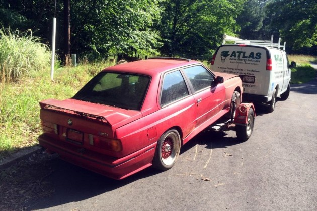 Towing BMW M3 Home