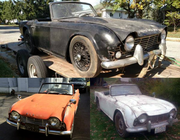Motoring Monday Triumph Tr4 Barn Finds
