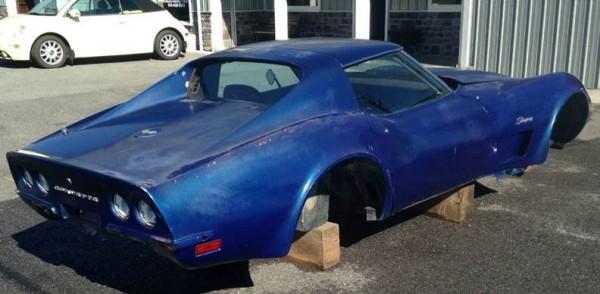 '73 Corvette Body right side rear