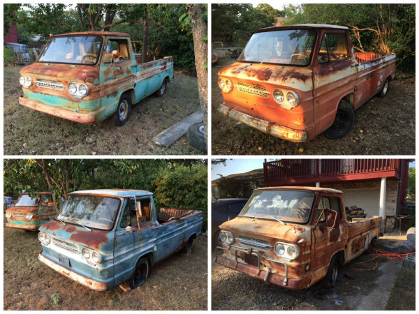 Four Corvair Rampsides in Texas!