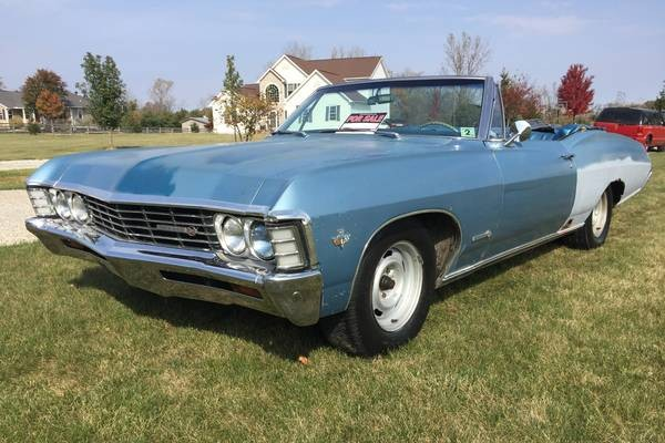 1967 Chevy Impala Craigslist >> Glory Days: 1967 Chevrolet Impala SS Convertible