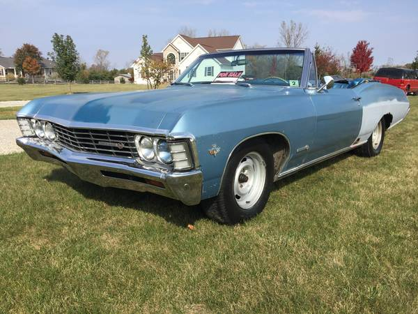 1967 Impala For Sale >> Glory Days: 1967 Chevrolet Impala SS Convertible