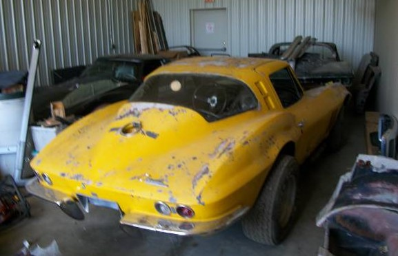 1965 Corvette Sting Ray Wrecked And Parked