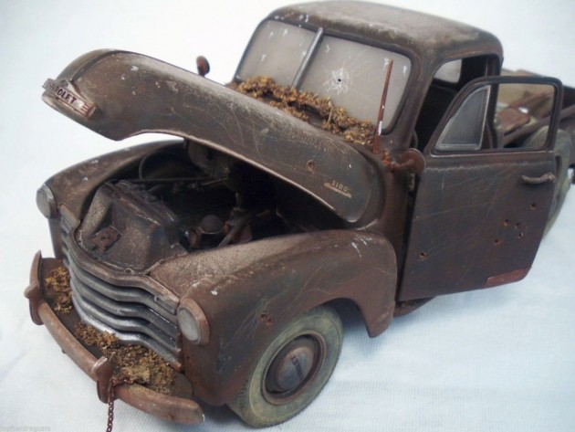 '53 Chevy scale front left