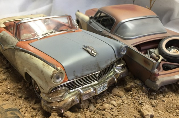 '57 Stude, 56 Ford's front