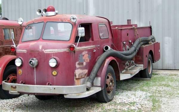 cheap fire truck 1956 american lafrance. Black Bedroom Furniture Sets. Home Design Ideas