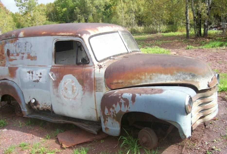1948 Chevy Panel Van: Singer Service