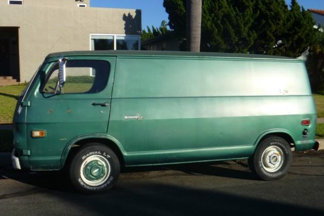 1969 Green Box On Wheels Chevy 108 Van