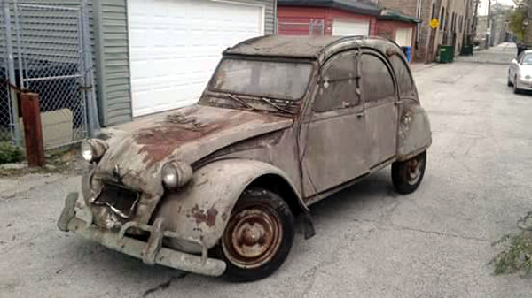 dirty french project  1968 citroen 2cv