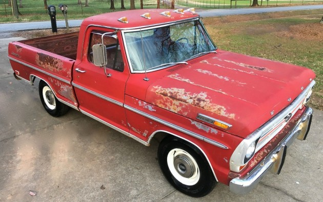 Well Optioned Worker 1969 Ford F100 Ranger