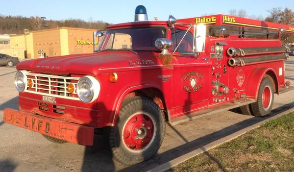 You Know The Drill: 1966 Dodge Fire Truck