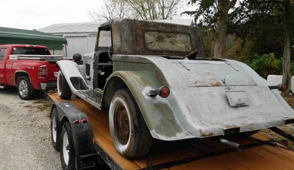 Homemade rear on trailer