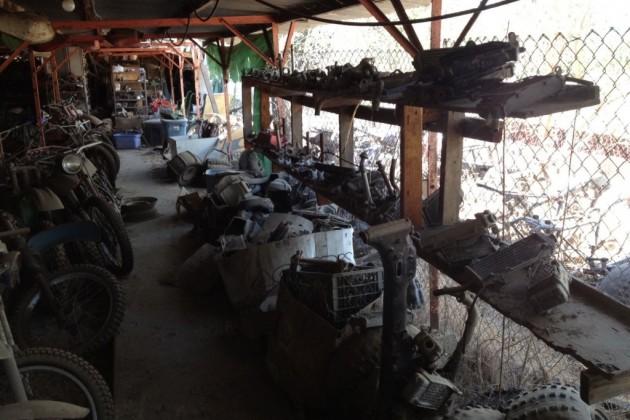 Salvage Yard bikes parts