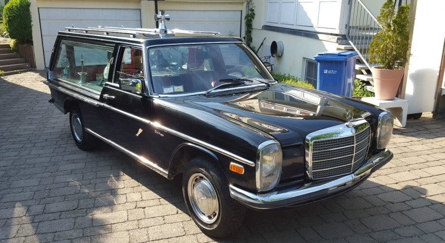 1976 mercedes benz 200 hearse equipped for Mercedes benz hearse