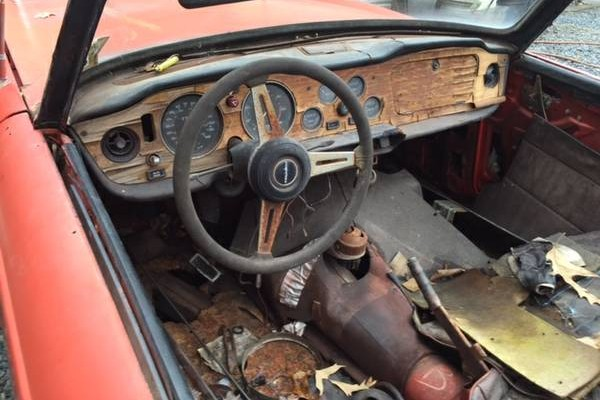 Its Pretty Easy To See That This TR6 Has Been Open The Elements At Some Point Seller Describes It As A Barn Find North Carolina Car