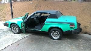 Mean Green Machine 1976 Triumph Tr7