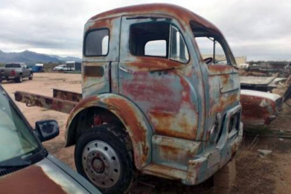 Stub Nose: 1955 White Truck Cab
