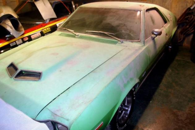 Neon Green 1970 AMC AMX Barn Find