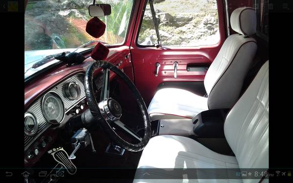 '65 Ford pu rod interior