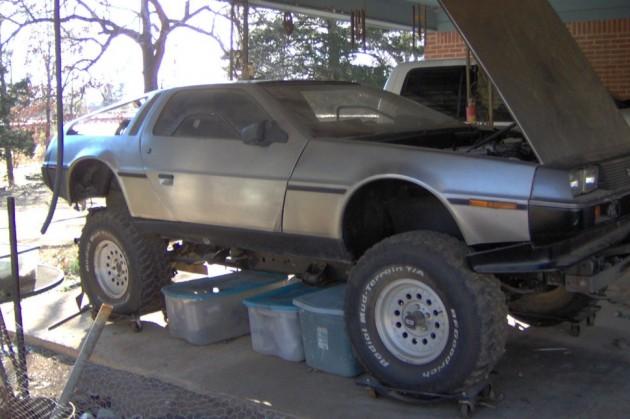 Lifted Time Machine 1981 Delorean Dmc 12