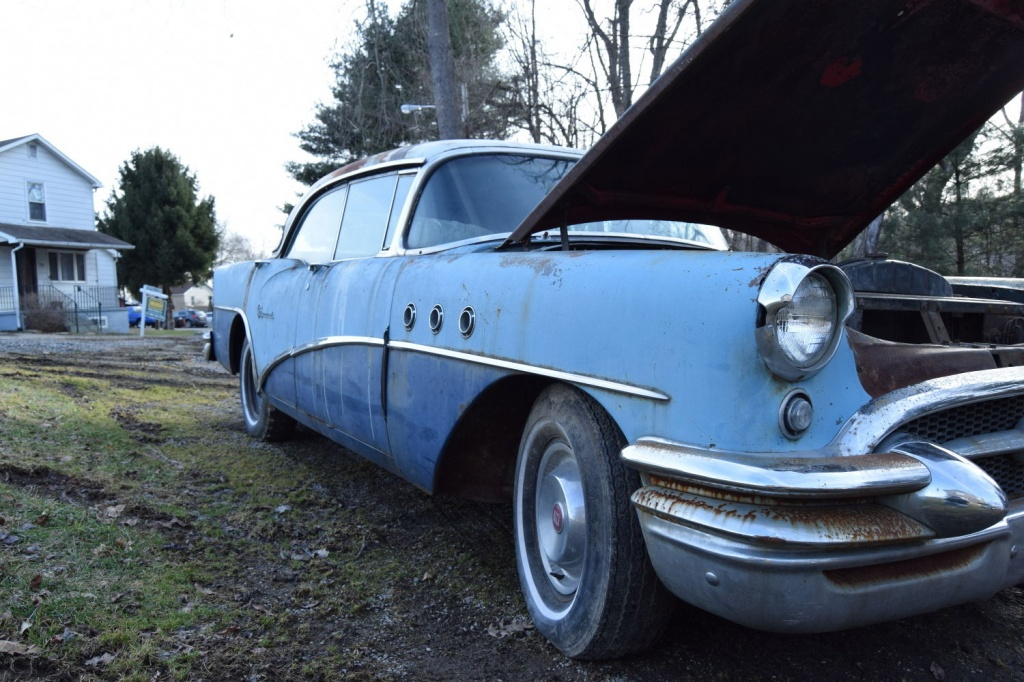 Inexpensive field find 1955 buick special for 1955 buick special 4 door for sale