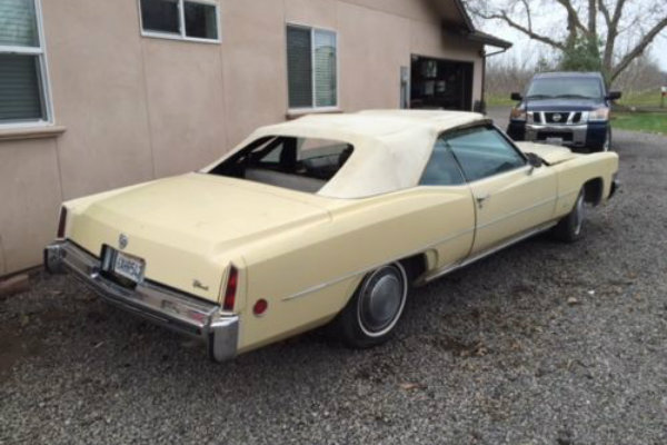 Yellow Gold: 1973 Cadillac Eldorado Convertible