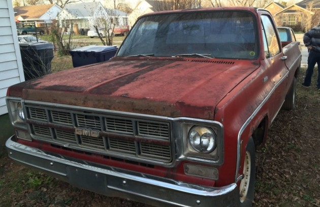 My Guess Is This The One That S Most Likely To Find A New Home 1976 Gmc Sierra Here On Ebay Good Bet For Solid Work Truck Provided