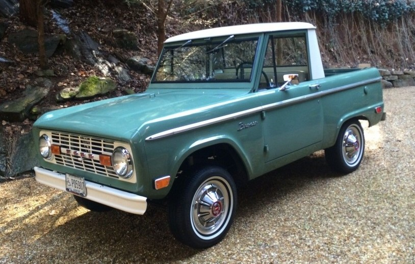 Super Clean 1969 Ford Bronco Half Cab