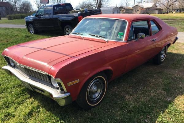 Bone Stock Survivor 1972 Chevy Nova V8