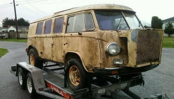Flipped Baja: 1959 VW Bus
