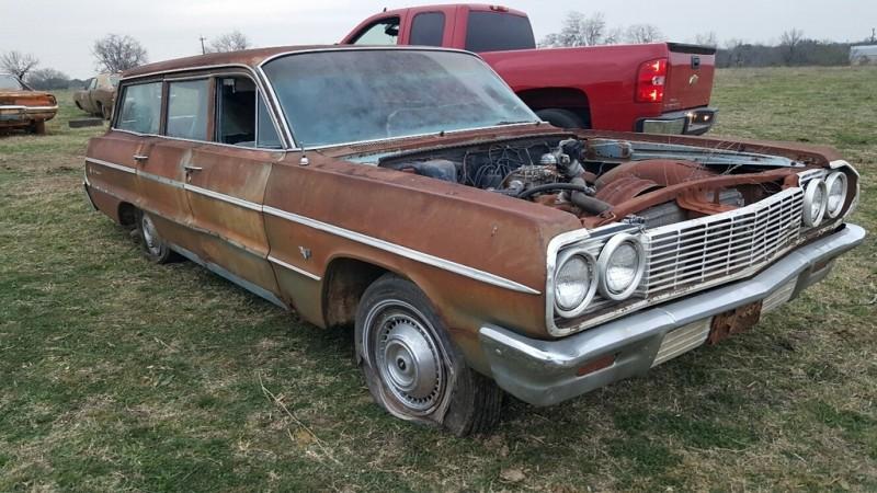 031716 Barn Finds - 1964 Chevrolet Impala wagon 1