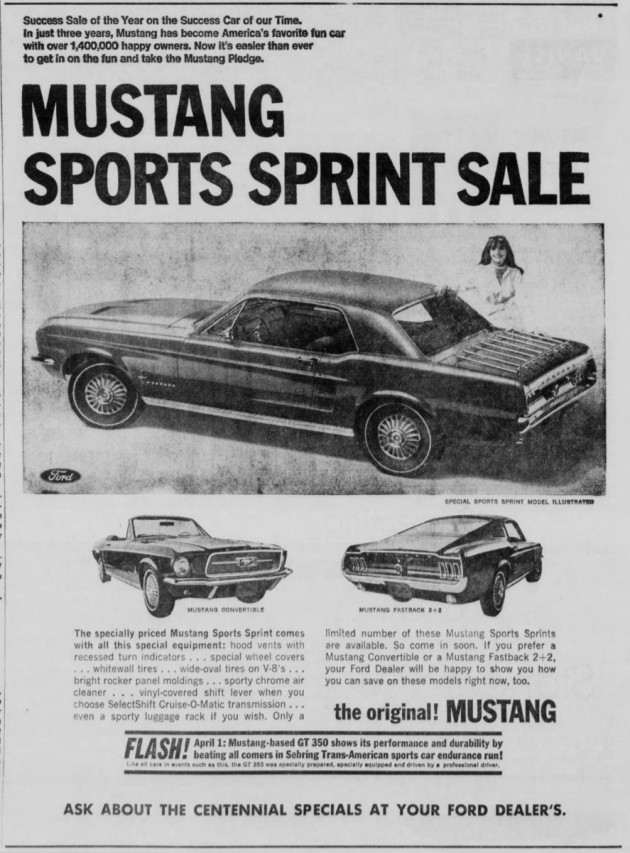 Sports Sprint Special 1967 Ford Mustang