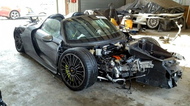 Porsche 918 Crashed At 92 Miles On Copart