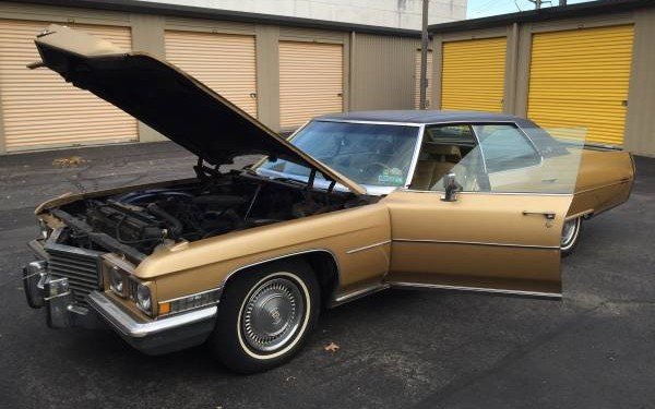 Gold Nugget 1972 Cadillac Sedan Deville