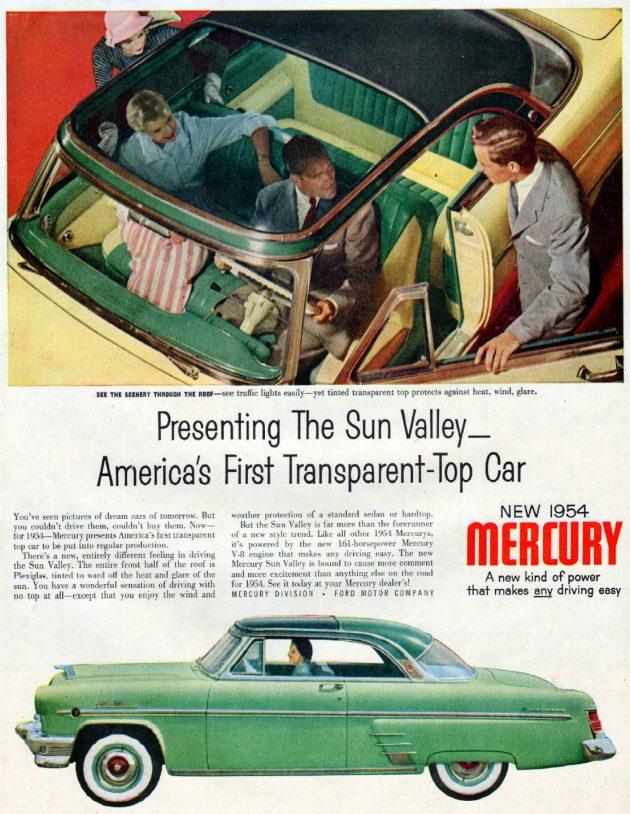 1954 Mercury Sun Valley Ad
