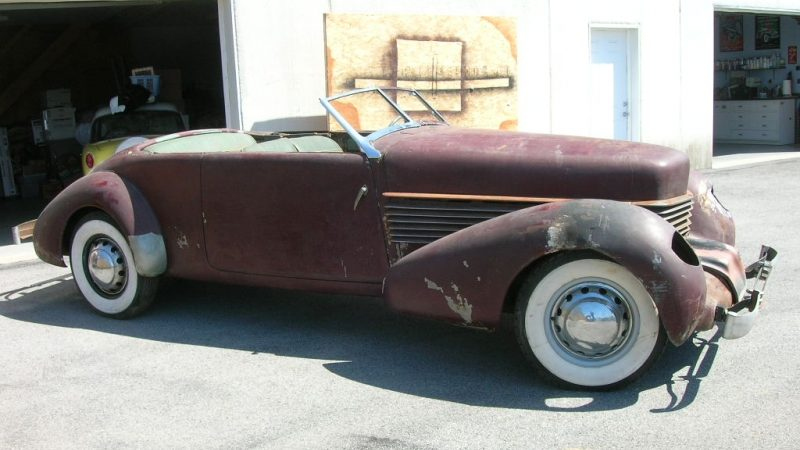 Show Low Ford >> Rare Find: 1936 Cord 810 Phaeton