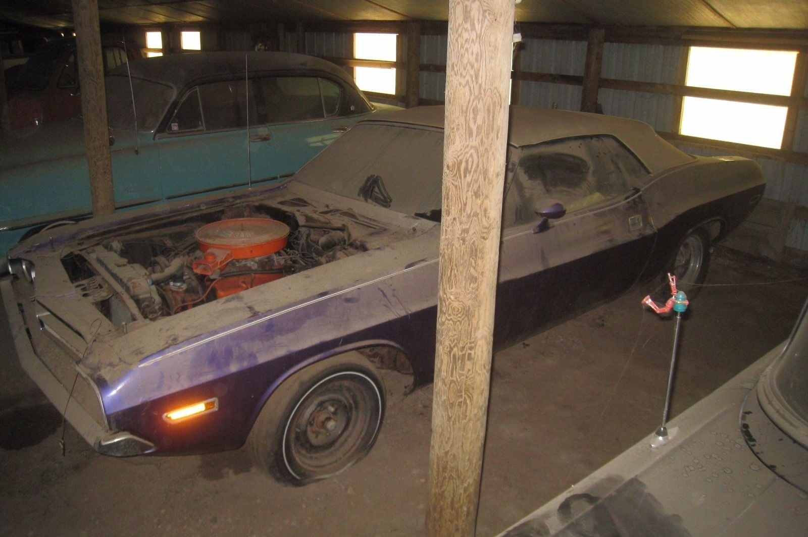 Plum Crazy Challenger Convertible Barn Find