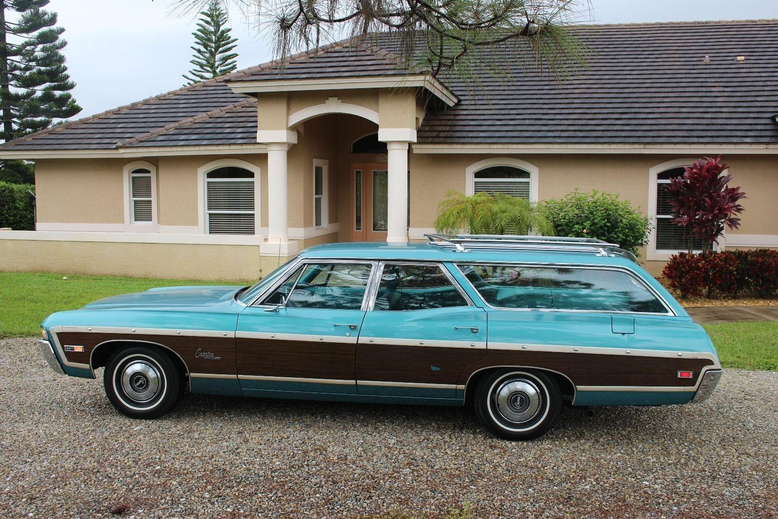 Turquoise Gem 1968 Chevrolet Caprice Wagon Survivor