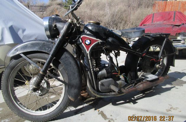 Bunker Find: BMW R35 Motorcycle