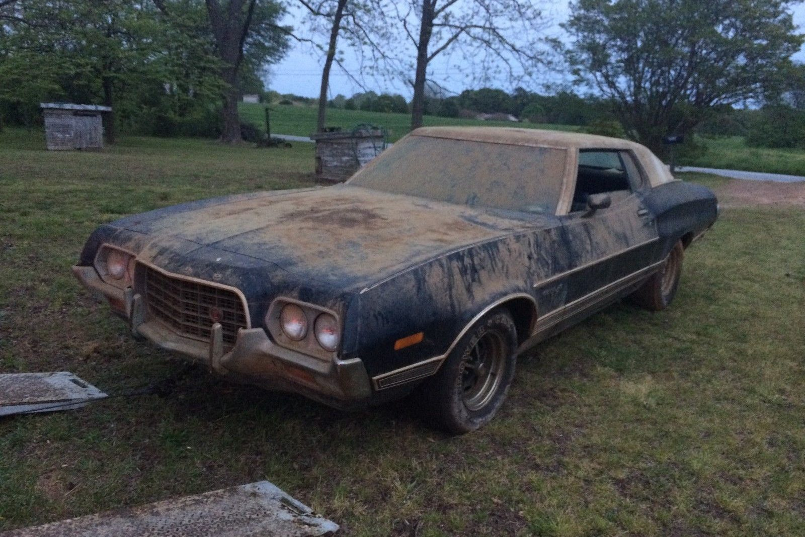 true barn find at no reserve 1972 ford gran torino. Black Bedroom Furniture Sets. Home Design Ideas