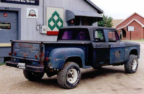 W on 1968 Dodge Power Wagon