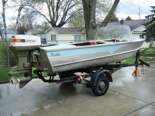 050416 Barn Finds - 1957 Cadillac Boat - 1