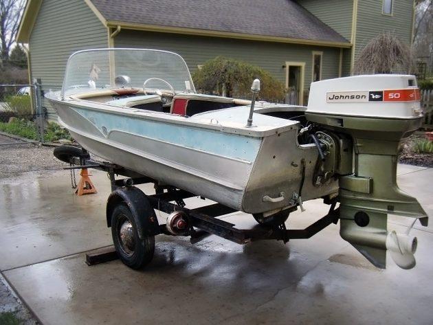 050416 Barn Finds - 1957 Cadillac Boat - 2