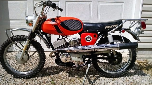 050416 Barn Finds - 1971 Bridgestone Motorcycle 100TMX - 2