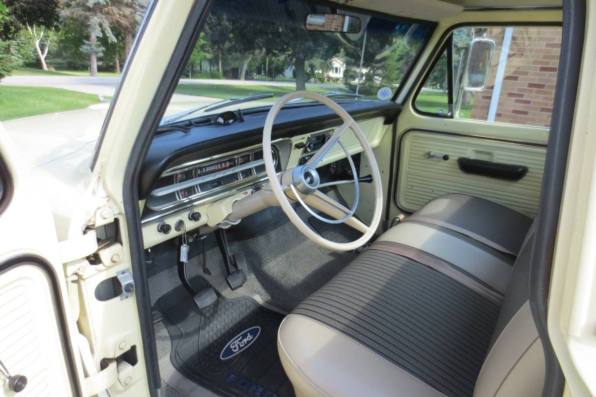 35500 Miles 1968 Ford F 100 Survivor 1955 F100 Interior Seat I Challenge You To Find Me A Better Condition Original Than This One Truck Must Really Have Been Someones Toyeither That