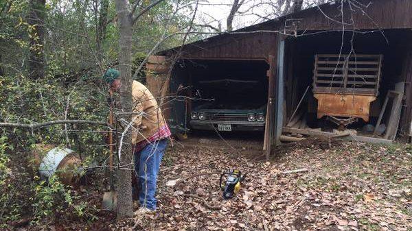 in garage