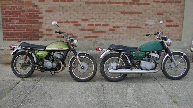 Pair of Scare: 1969 & 1970 Suzuki T500 Titans