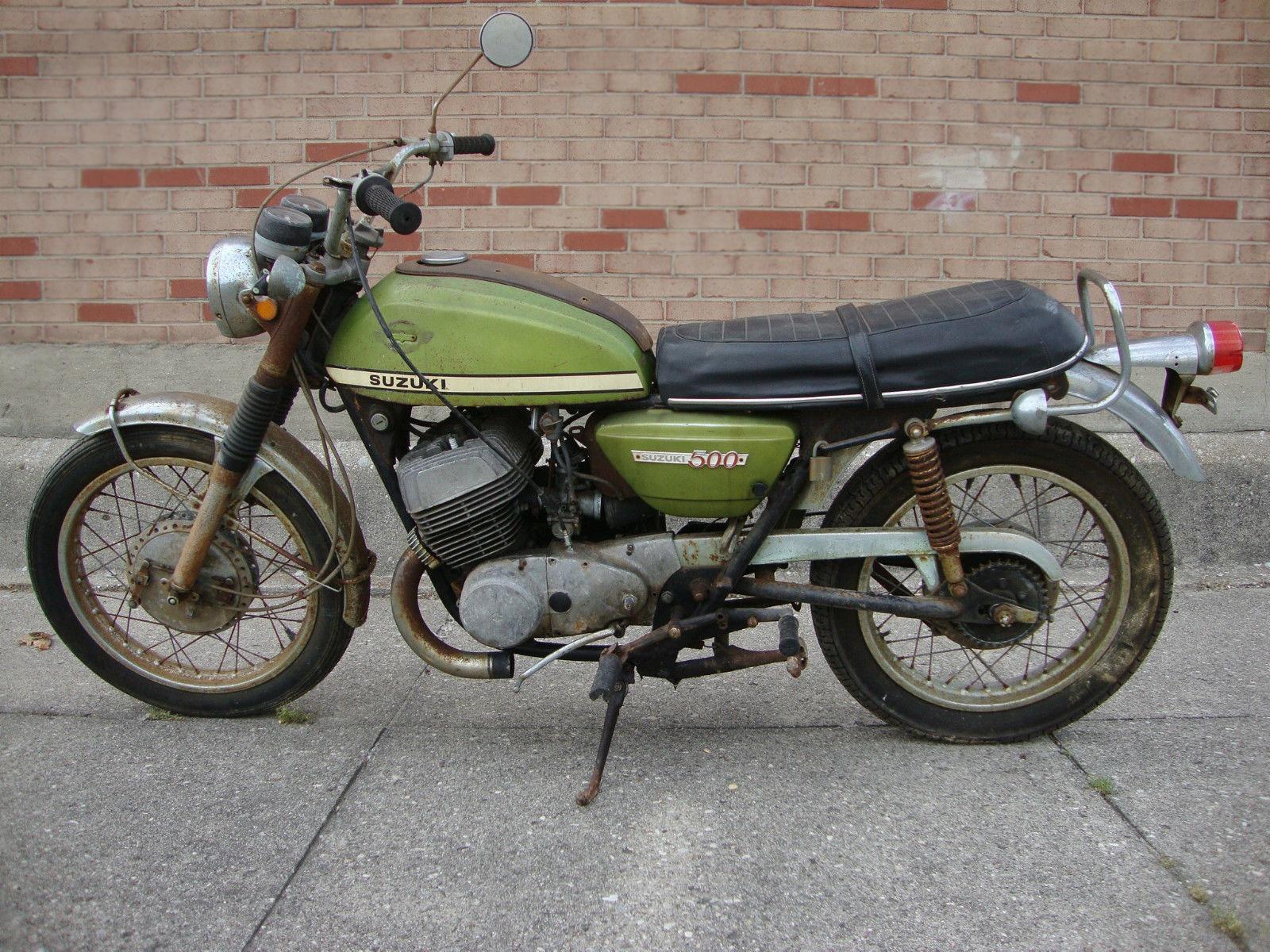 Pair Of Scare 1969 Amp 1970 Suzuki T500 Titans