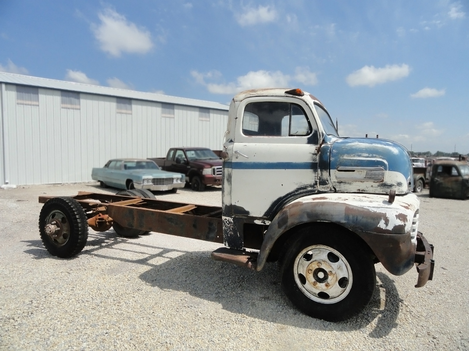 Kansas Kool 1949 Ford F 6 Coe Chevy Truck Frame Swap 061516 Barn Finds 2