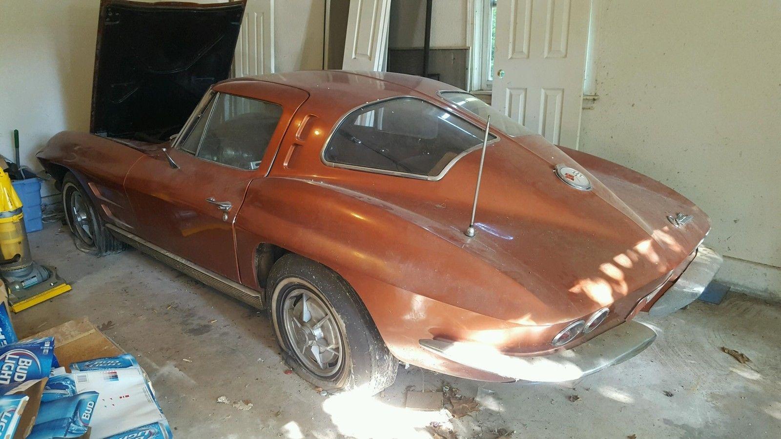 1963 corvette split window barn find. Black Bedroom Furniture Sets. Home Design Ideas